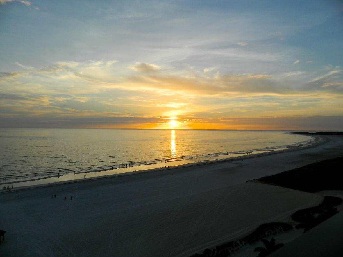 Honeymoon Sunset Blue