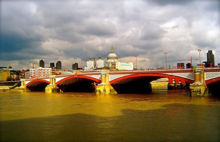 Red and White Bridge
