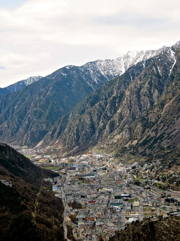 3 Countries Andorra La Vella Valley Mountains